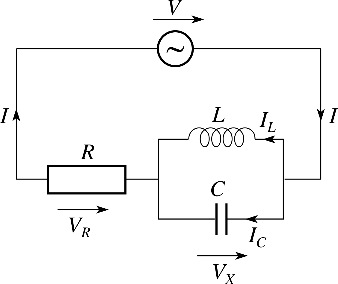 Pplato Flap Phys 54 Ac Circuits And Electrical Oscillations This Is A Very Simple Basic Circuit Diagram Like You Would Find On 27 Combining Series Parallel